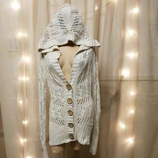 Rip Curl Light Beige Hooded Knit