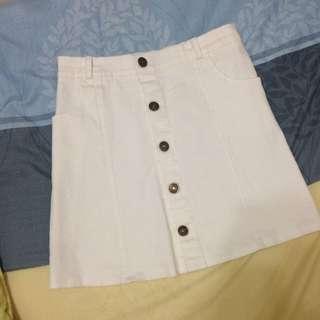 全新 白色 A字裙