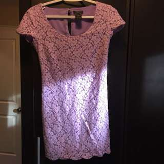 Aritzia Lavender Lace Dress-xxs