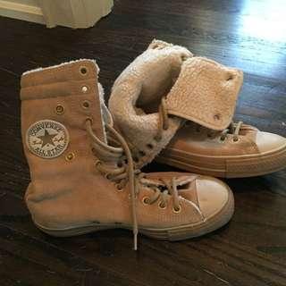 Converse Hightop Suede Shoes