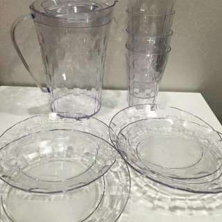 TUPPERWARE Prism Jug Set Level Jun