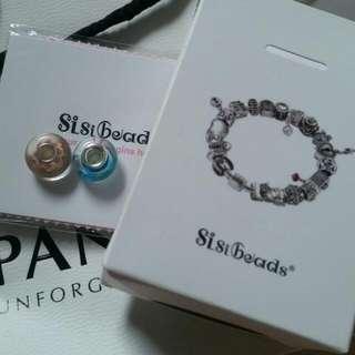 Pandora可串琉璃串珠2個SisiBreads
