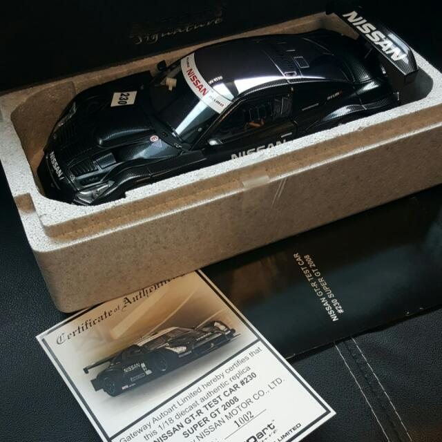 1/18 Autoart Nissan GTR Test Car #230 Super GT 2008