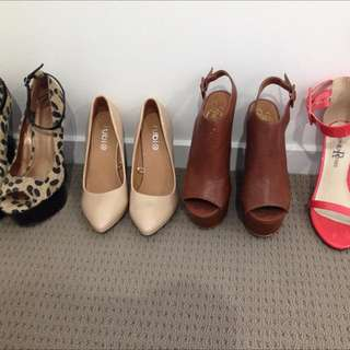 4 Pairs Of Heels! $30!