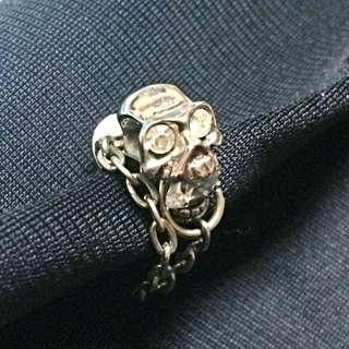 純銀骷髏頭耳環