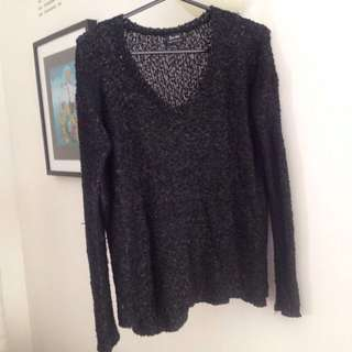 Sequin Bardot Knit