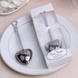 Heart Shaped Tea Infuser Wedding Favours - 18 pieces