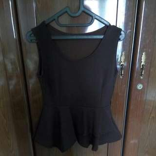 Brown Peplum