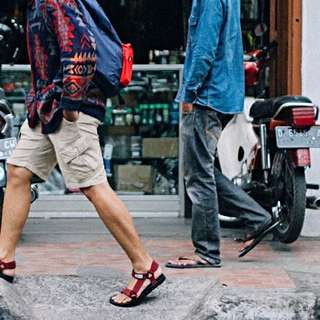 Hijack Sandals Kato Red Suede