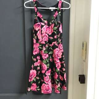 Mooloola Pink Cut Out Floral Dress