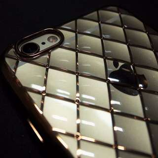 iPhone6\6s 軟保護套\菱格\晶鑽\全包