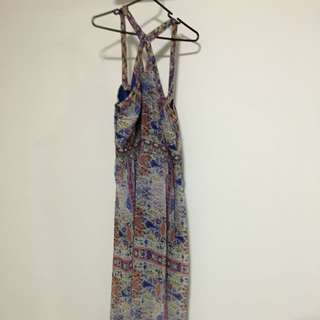 Maxi Length Floral Summer Dress