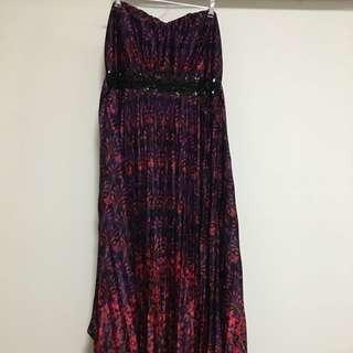 Maxi Length Strapless Formal Dress