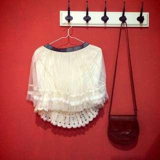孔雀白紗短裙
