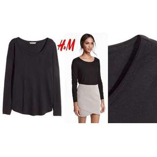 H&M Long Sleeve Blouse Black