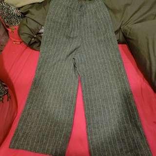 九分直條寬褲