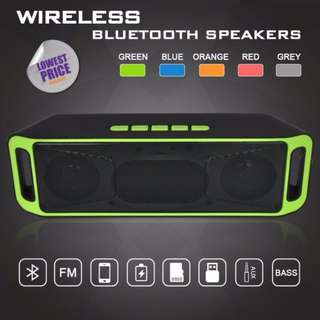 ★★ Portable Wireless Speaker Bluetooth 4.0 Stereo Subwoofer Bass Sound Stereo Speakers Sound Bar ★★ Support MicroSD Card / USB  ★★Built-in FM Radio / Mic / Dual Powerful Speaker ★★