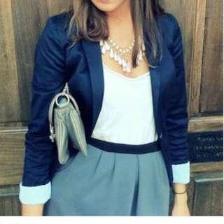 H&M Navy Blazer Size 8