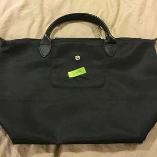 Longchamp Black Short Handle Bag