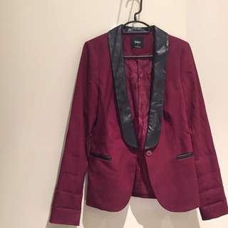 Sports Girl Leather Trim Blazer Size 6