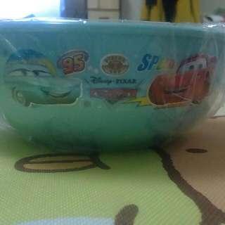 韓國 迪士尼 Disney Cars 汽車總動員 皮克斯 Pixars 閃電麥坤 芙蓉 不鏽鋼 雙耳隔熱碗 兒童學習碗