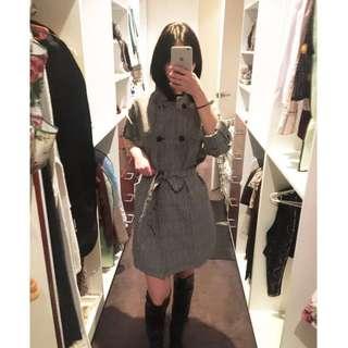 60% OFF!! Warehouse coat/blazer grey pattern size8-10