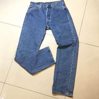 古著 Levi's 501 早期排釦直筒牛仔長褲 墨西哥製