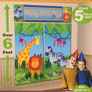 Jungle Animals Wall Decorating Kit