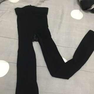 全新 顯瘦超彈力 黑色 九分 褲襪