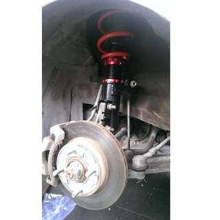 Proton saga FL adjustable suspension