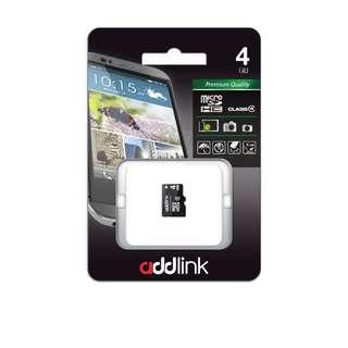 ADDLINK MMC/MICRO SD CARD CLASS 4 - 4GB, 8GB