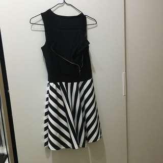拉鍊可調式 傘狀 性感夜店風洋裝