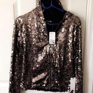 Sequinned Jacket w/hood (Forever21)