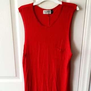 Red High-low T-shirt Dress