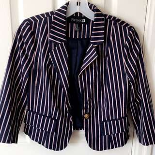 Forever 21 Blazer- Navy and Light Pink