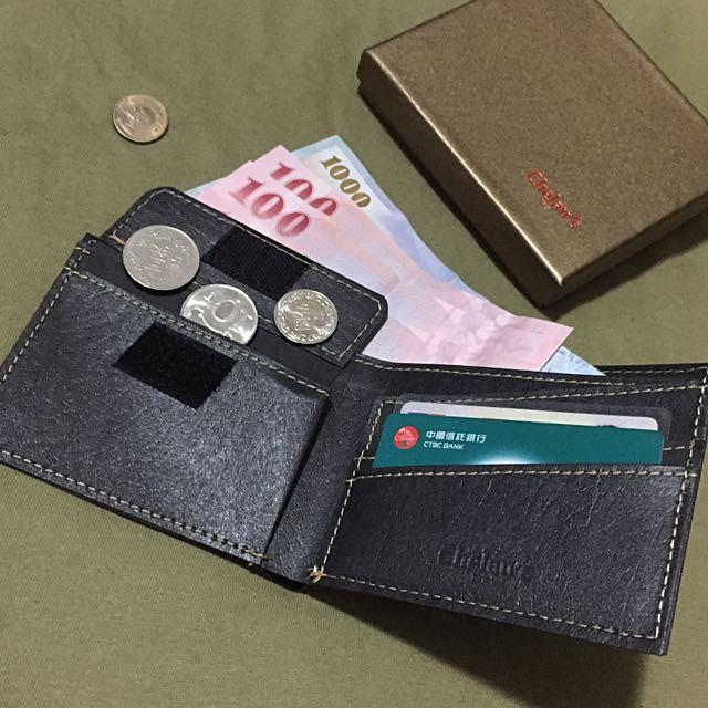 :: 文創仿皮革硬挺零錢信用卡短夾 台灣設計師品牌 闕佬紙包 chelau's bag ::