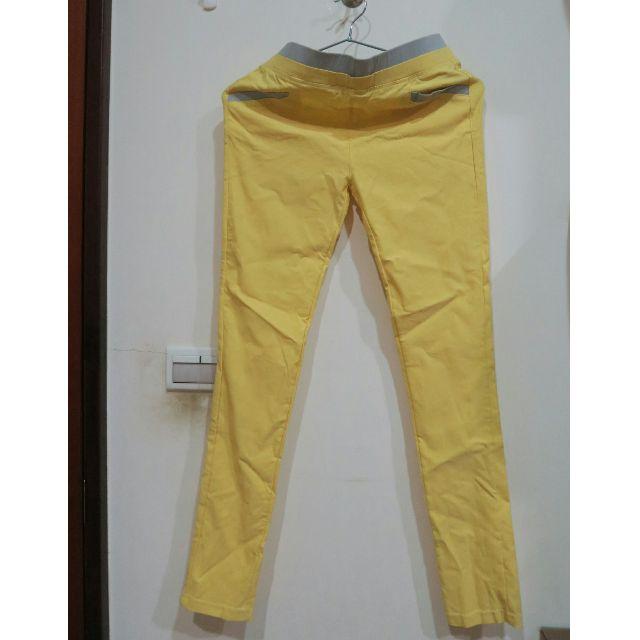 (全新) 黃色M號內搭褲