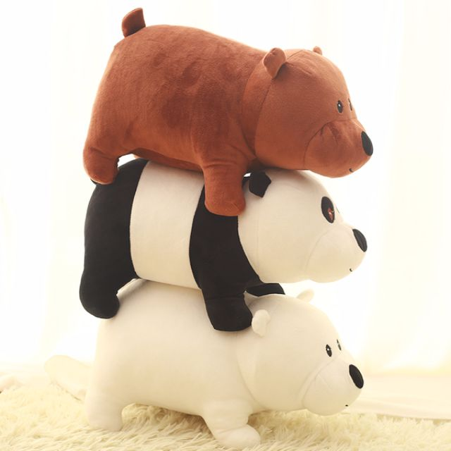 [代購] we bare bears 公仔 娃娃 布偶 熊熊遇見你 Ice Bear Grizzly Panda