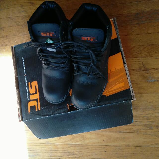BlackSteel Toe Boots