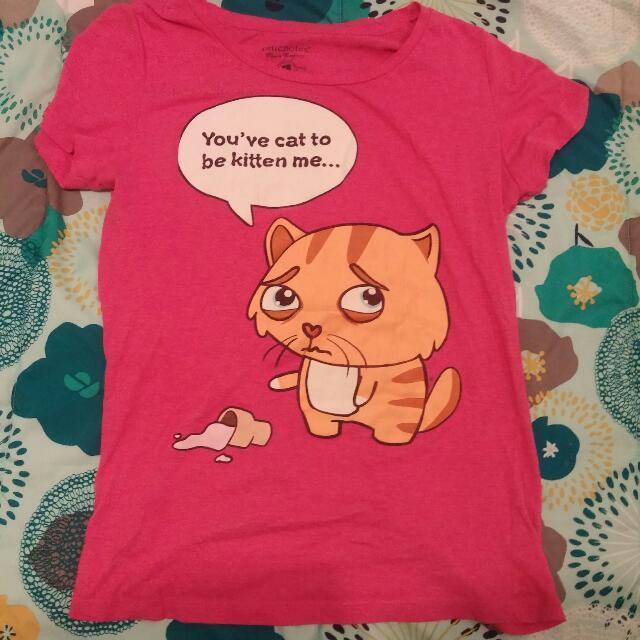 Blue notes Pink Cat Shirt