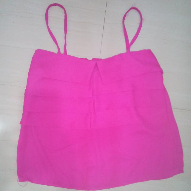 Chiffon Sleeveless Pink