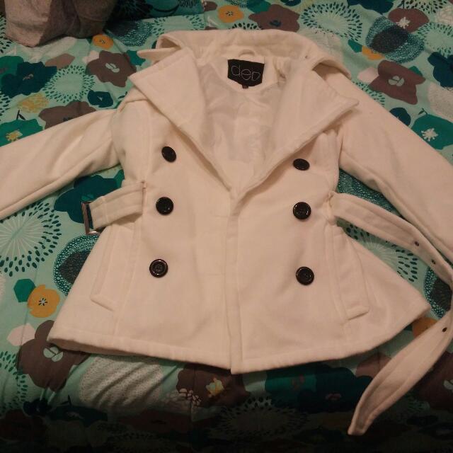 Deb White Fall Coat