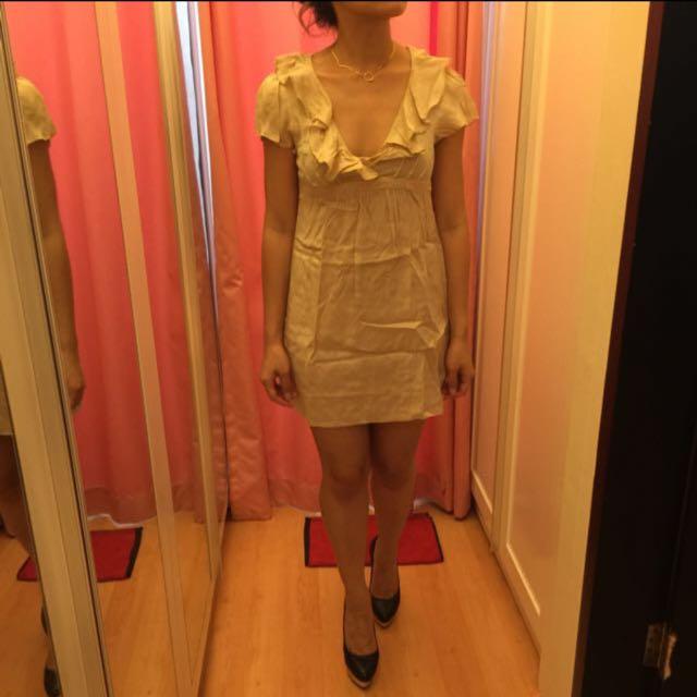 Dorothy Perkins Gold Mini Dress ORI