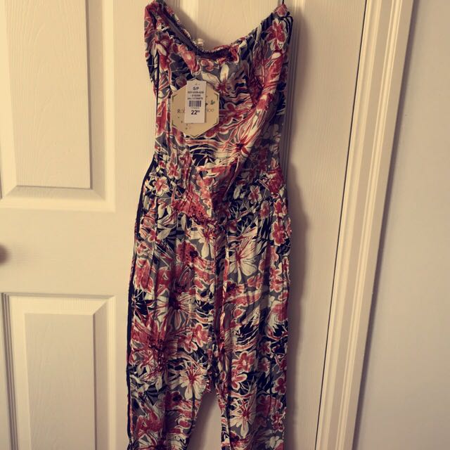 Floral full-length Romper