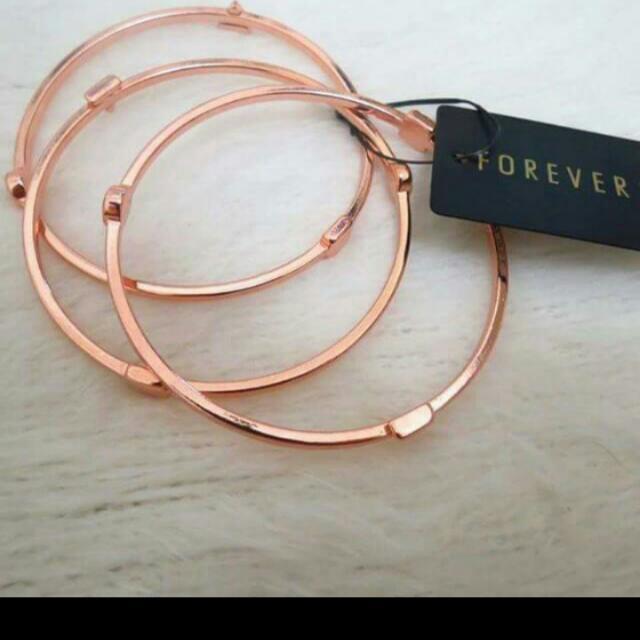 Forever 21 玫瑰金幾何手環