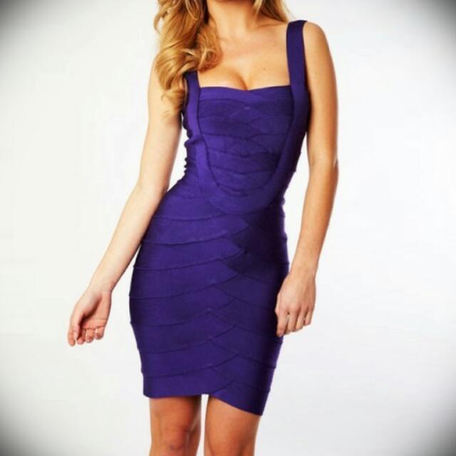 Gorgeous Blue Bandage Designed Dress