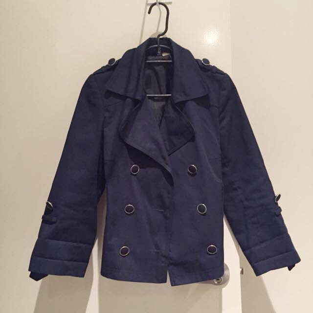 H&M Navy Blue Jacket Size 34