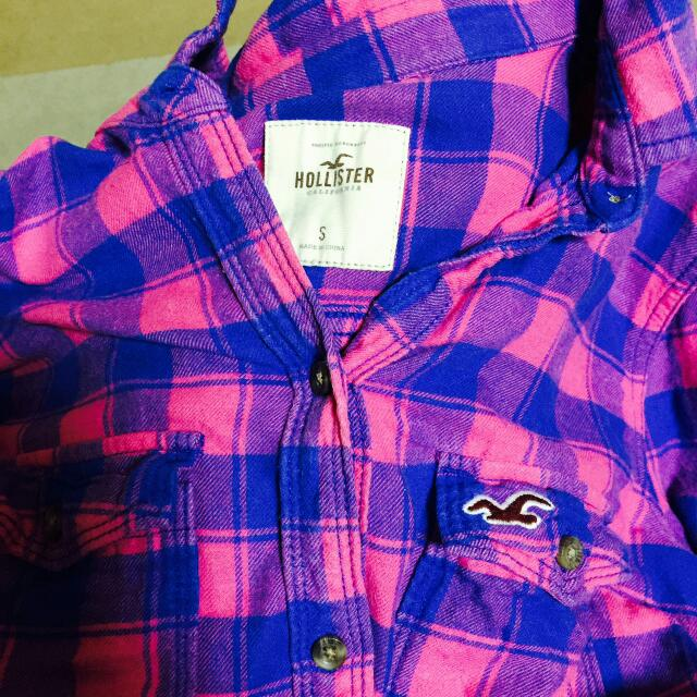 Hollister格子襯衫 S