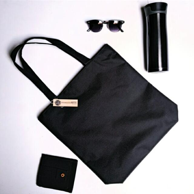 IN-STOCK | Ambiental Canvas Tote Bag | Black