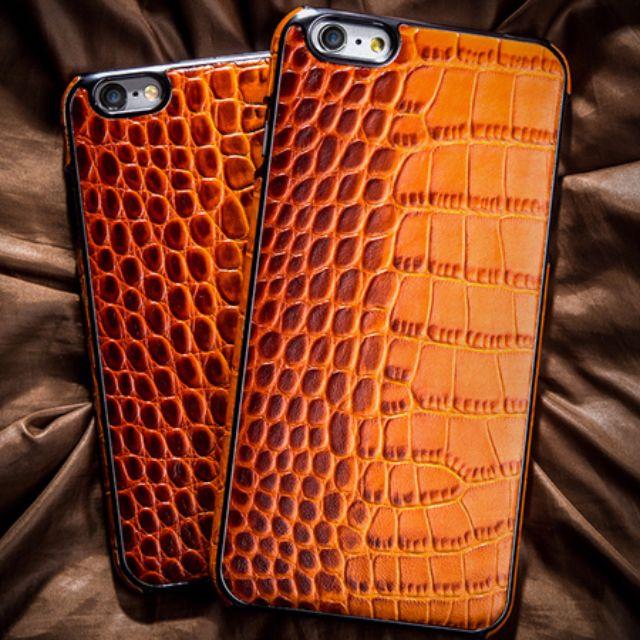 iPhone6\6s 保護硬殼\仿鱷魚皮\真皮手感
